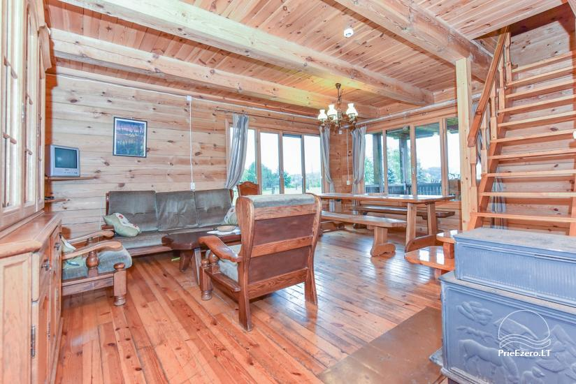 Homestead on the shore of the lake Sartai in Zarasai district Lapėnų Sodyba – holiday cottages - 36