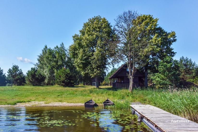 Gehöft am Ufer des Sees Sartai im Bezirk Zarasai Lapėnų Sodyba - Ferienhutten - 2