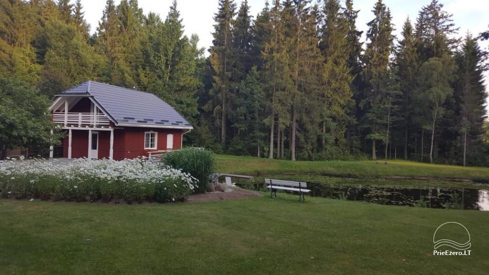 Countryside homestead near Plateliai lake in Lithuania - villa  BRONELE - 1