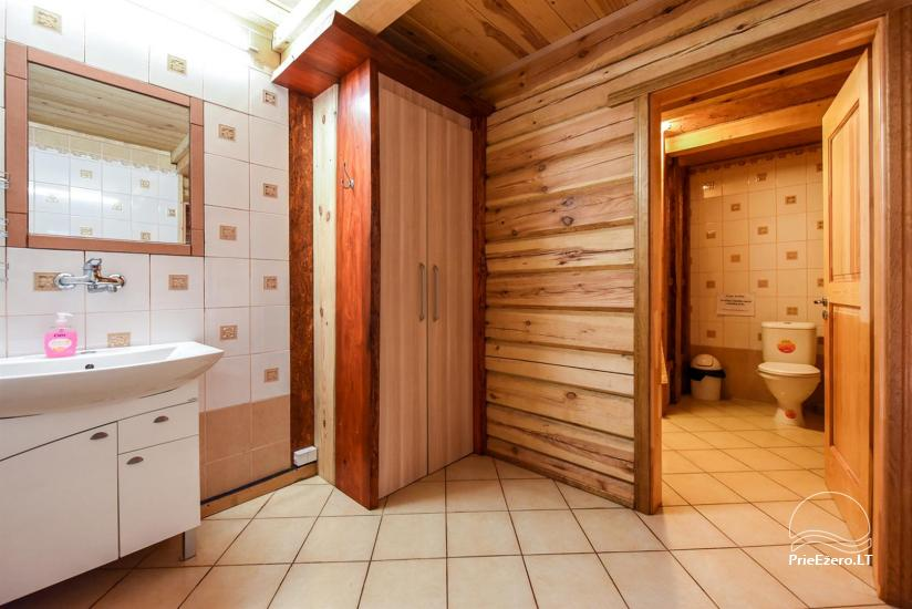 Log-house for 10-15 persons with a private yard