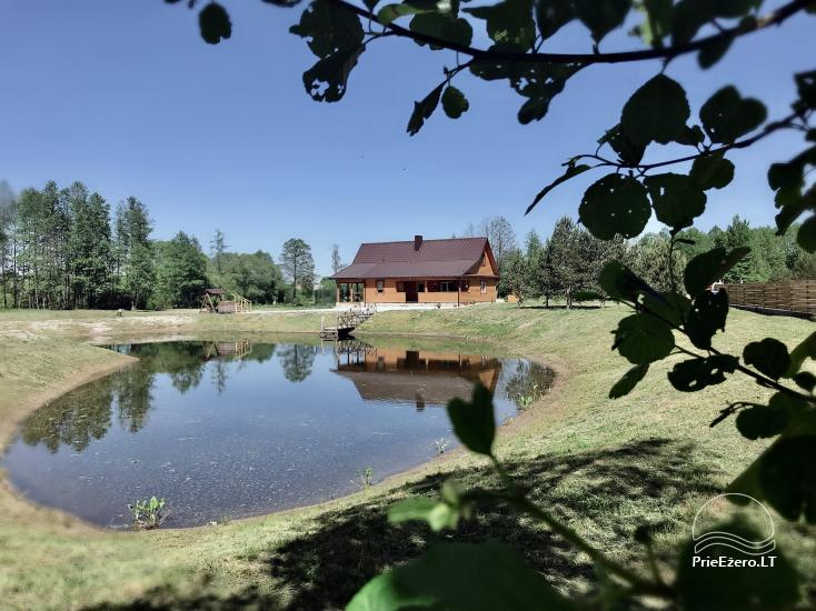 Countryside homestead on Merkys river shore in Lithuania - 1
