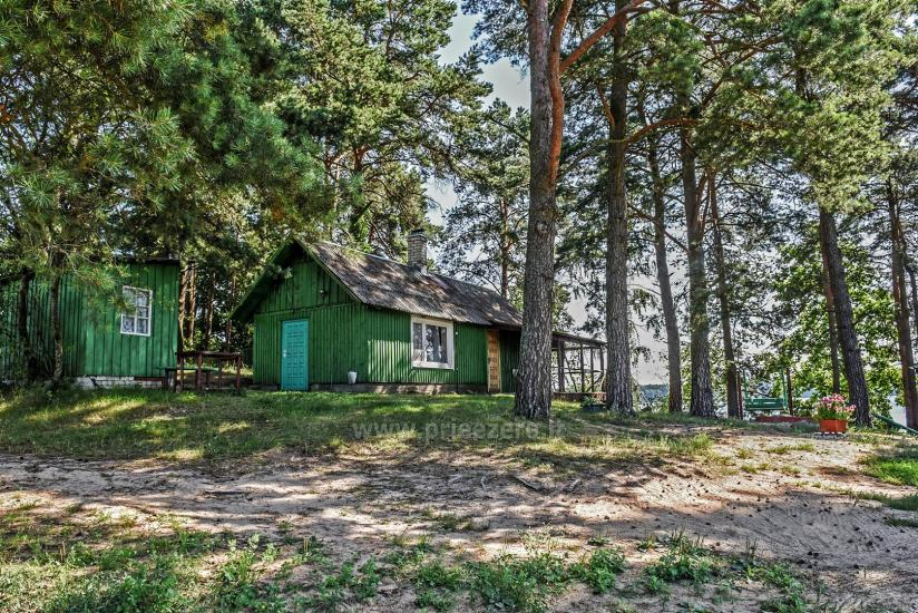 Małe domki letniskowe nad jeziorem Arino na Litwie, w regionie Moletai - 10