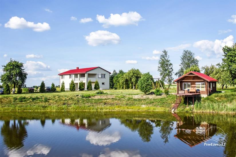 Countryside homestead on the lake shore in Ukmerge region, in Lithuania - 1