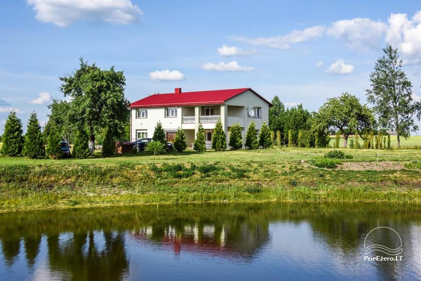 Countryside homestead on the lake shore in Ukmerge region, in Lithuania - 2