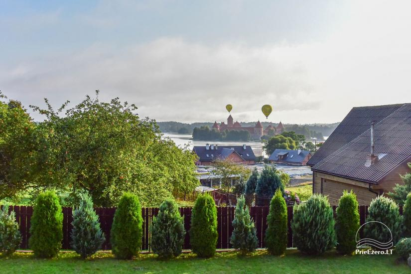 Guest house in Trakai PANORAMA – rooms, suites, sauna, yard with a view to Trakai castle - 12