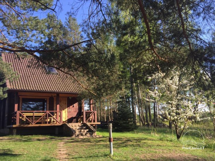 Land-Tourismus-Gehöft in der Nähe des Sees in Moletai Region, in Litauen - 1