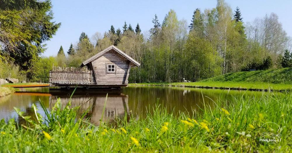 Miško rojus - hut over water - 2