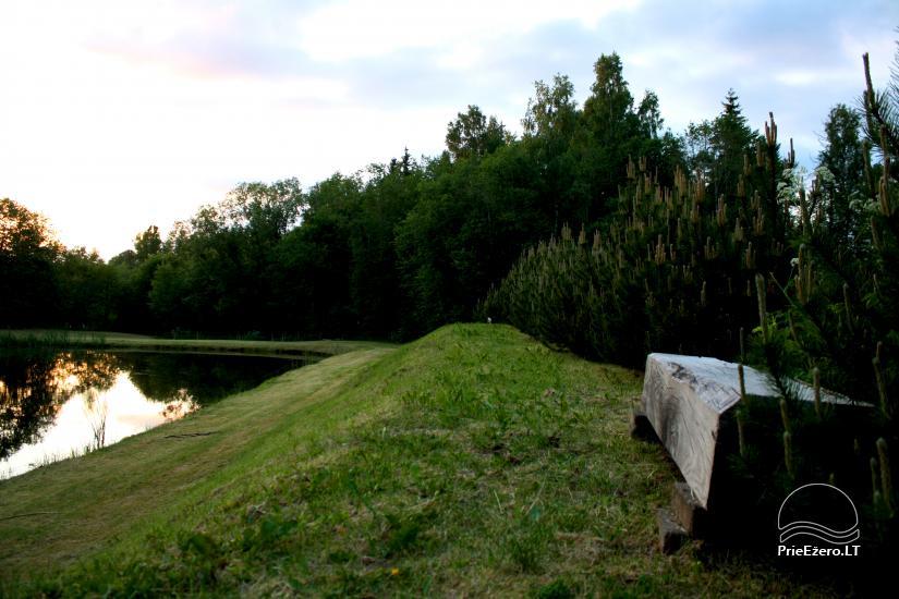 Miško rojus - hut over water - 10