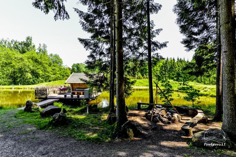 Miško rojus - hut over water - 8