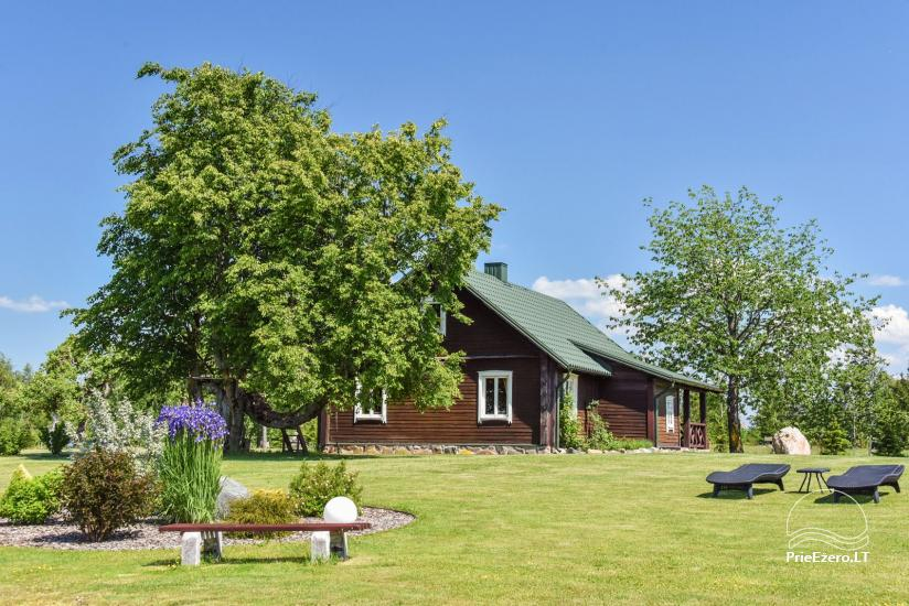 Ferienhutten im Gehöft Puodziu kaimas im Bezirk Utena, Litauen - 54
