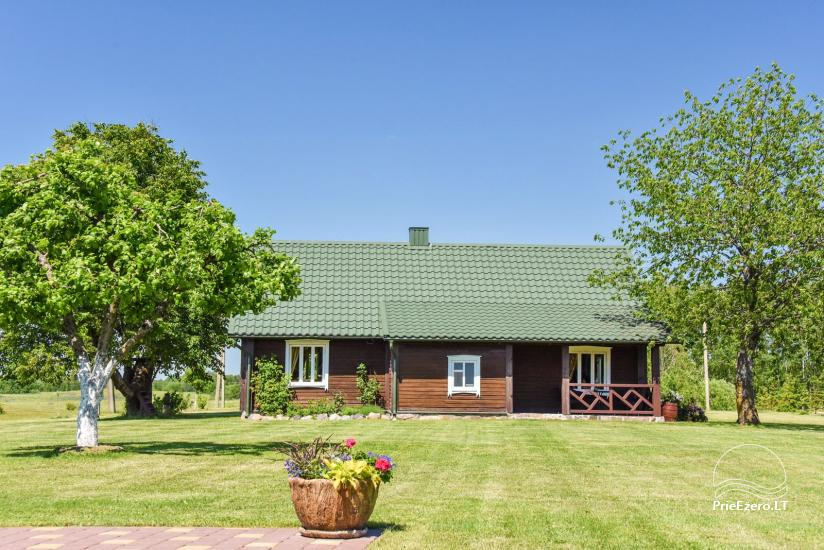 Ferienhutten im Gehöft Puodziu kaimas im Bezirk Utena, Litauen - 55