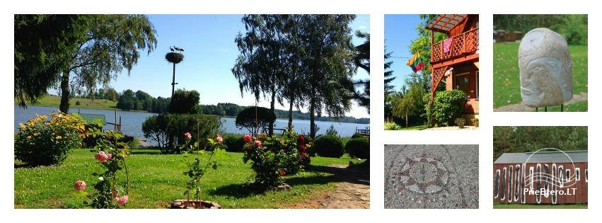 Holiday cottages, bathhouse, hot tub, kayaks in homestead at the lake Dviragis - 3