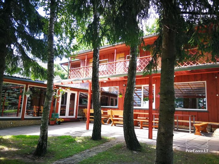 Holiday cottages, bathhouse, hot tub, kayaks in homestead at the lake Dviragis - 40