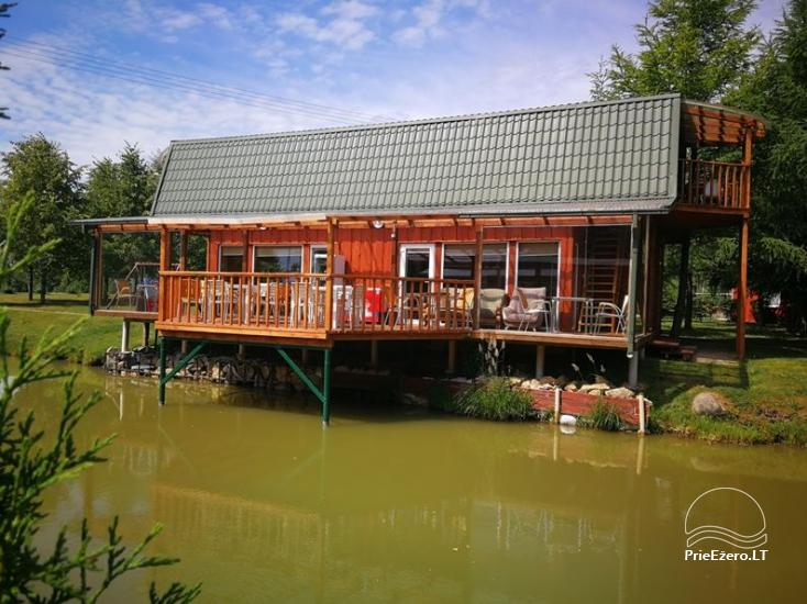 Holiday cottages, bathhouse, hot tub, kayaks in homestead at the lake Dviragis - 50