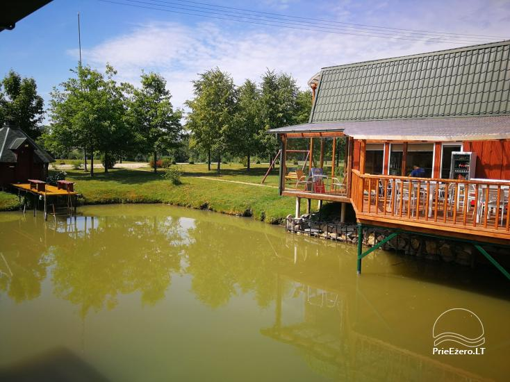 Holiday cottages, bathhouse, hot tub, kayaks in homestead at the lake Dviragis - 65