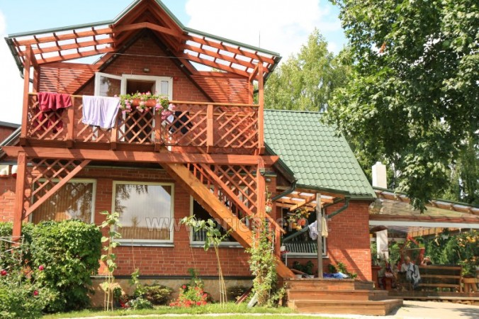 Holiday cottages, bathhouse, hot tub, kayaks in homestead at the lake Dviragis - 2