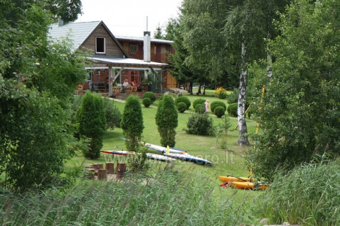 Holiday cottages, bathhouse, hot tub, kayaks in homestead at the lake Dviragis - 6