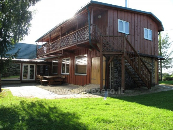 Holiday cottages, bathhouse, hot tub, kayaks in homestead at the lake Dviragis - 5