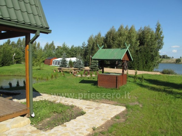 Holiday cottages, bathhouse, hot tub, kayaks in homestead at the lake Dviragis - 9