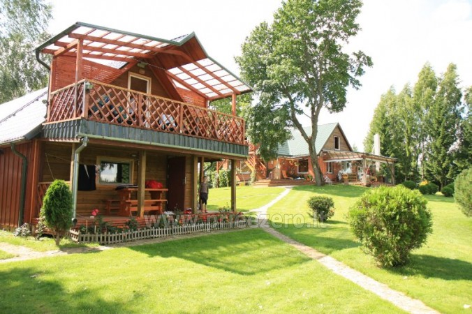 Holiday cottages, bathhouse, hot tub, kayaks in homestead at the lake Dviragis - 10
