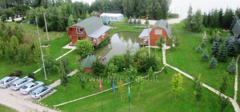 Holiday cottages, bathhouse, hot tub, kayaks in homestead at the lake Dviragis - 28