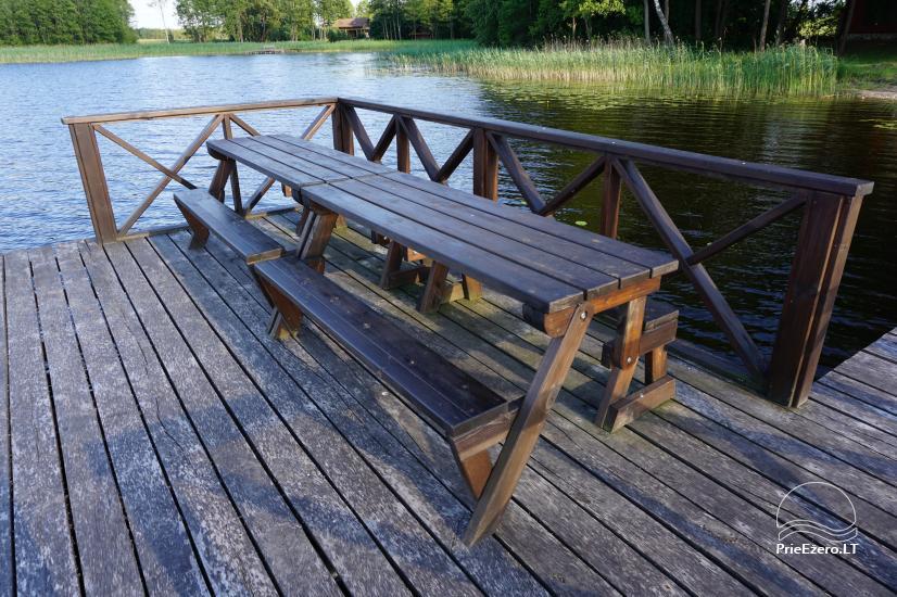Privates Gehöft für Ihren Rest auf dem Ufer des Sees in Moletai-Bezirk, Litauen - 3