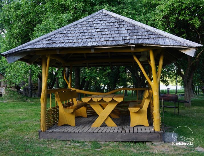 Privates Gehöft für Ihren Rest auf dem Ufer des Sees in Moletai-Bezirk, Litauen - 5