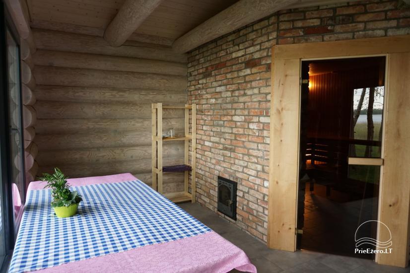 Privates Sauna für Ihren Rest auf dem Ufer des Sees in Moletai-Bezirk, Litauen - 7