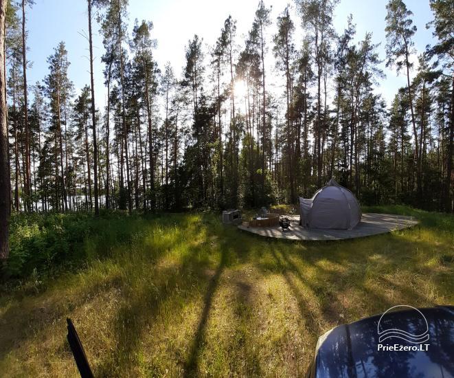 Новый кемпинг у озера Балтиейи лакаяи в районе Молетай, Литва - 4