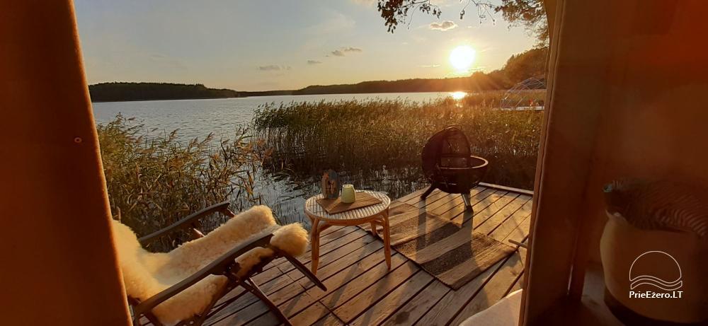 Новый кемпинг у озера Балтиейи лакаяи в районе Молетай, Литва - 6