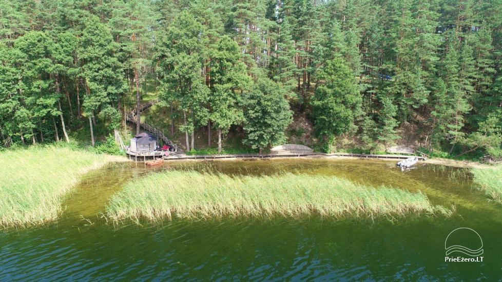 camping site by the lake Baltieji lakajai in  Moletai district, Lithuania - 10