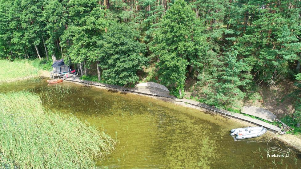 camping site by the lake Baltieji lakajai in  Moletai district, Lithuania - 11
