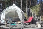 camping site by the lake Baltieji lakajai in  Moletai district, Lithuania - 6