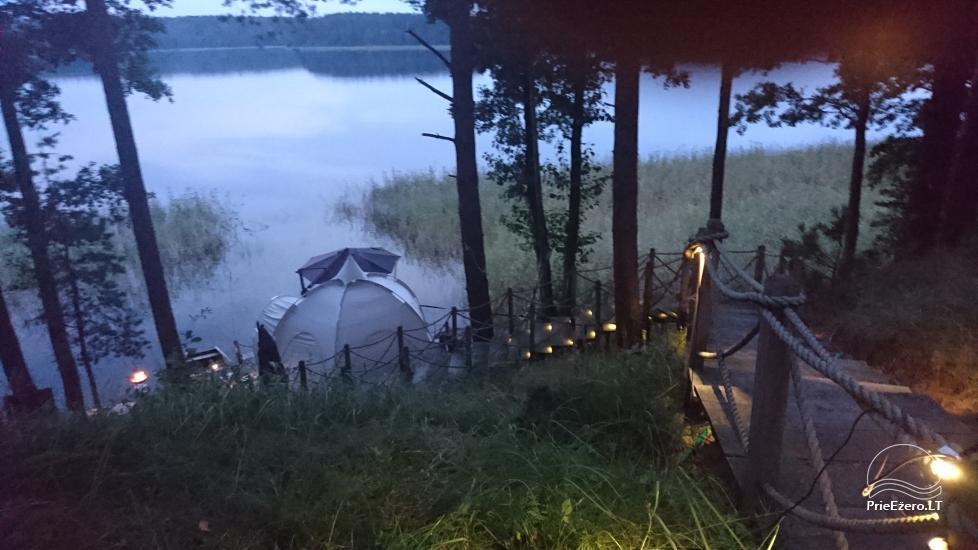 camping site by the lake Baltieji lakajai in  Moletai district, Lithuania - 7