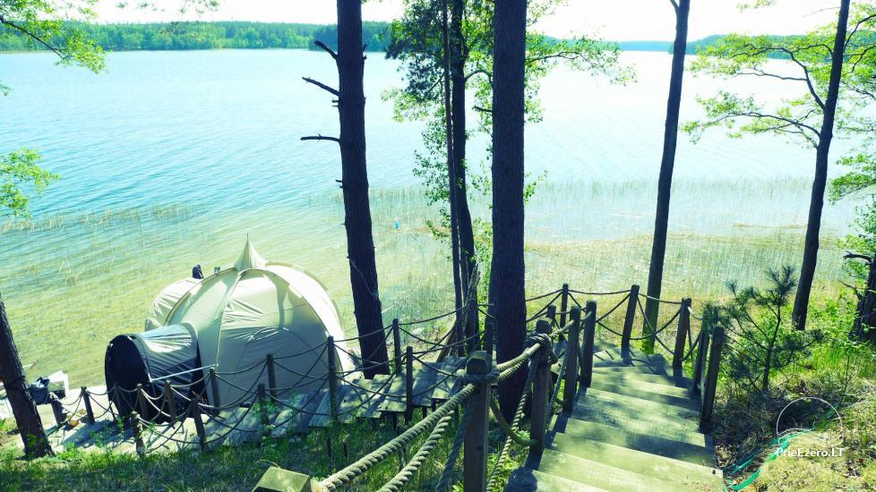 Новый кемпинг у озера Балтиейи лакаяи в районе Молетай, Литва - 2
