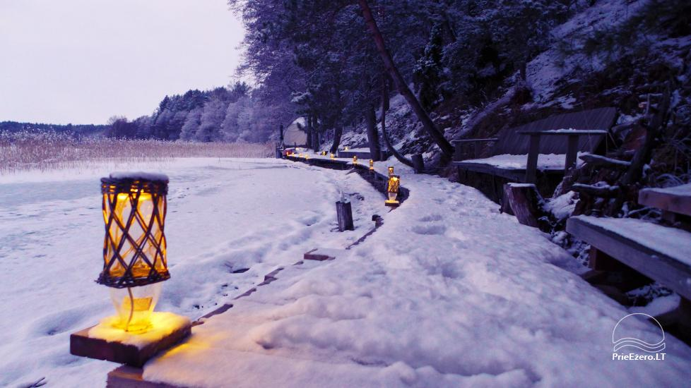 Новый кемпинг у озера Балтиейи лакаяи в районе Молетай, Литва - 10