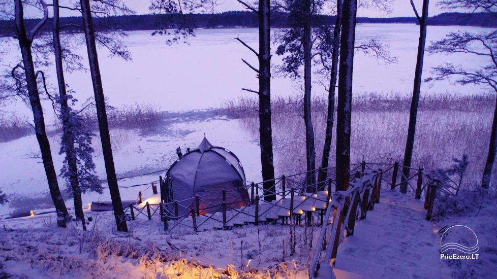 Новый кемпинг у озера Балтиейи лакаяи в районе Молетай, Литва - 9