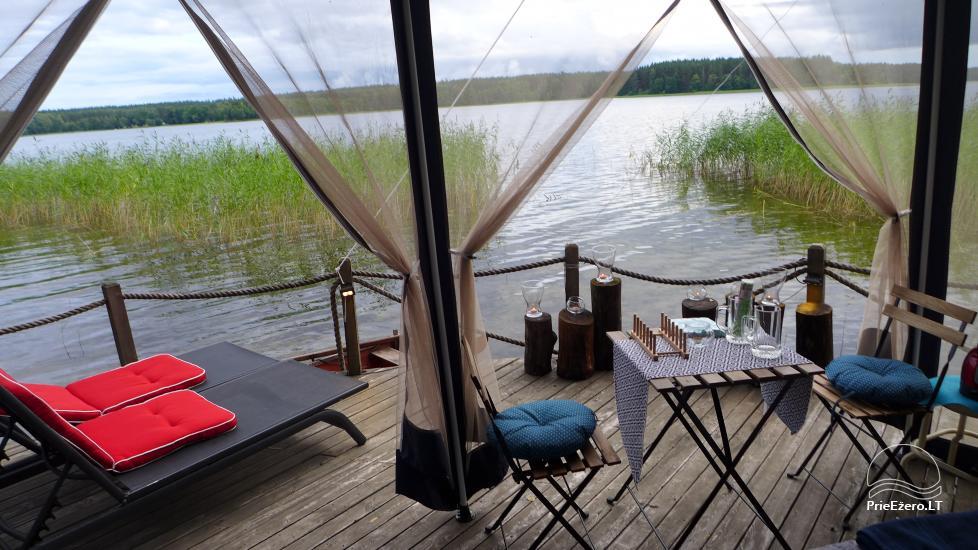 camping site by the lake Baltieji lakajai in  Moletai district, Lithuania - 4