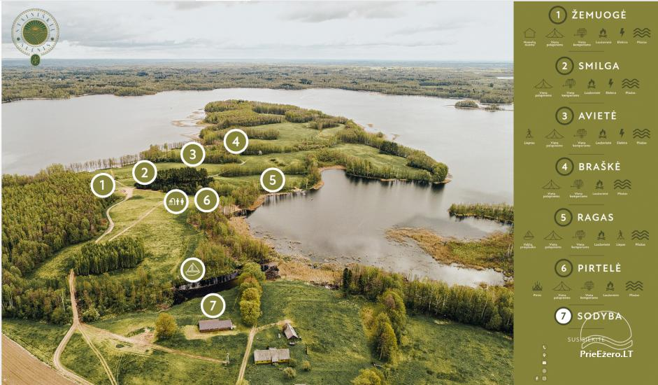 Homestead by the lake Avilys in Zarasai district, Lithuania - 50