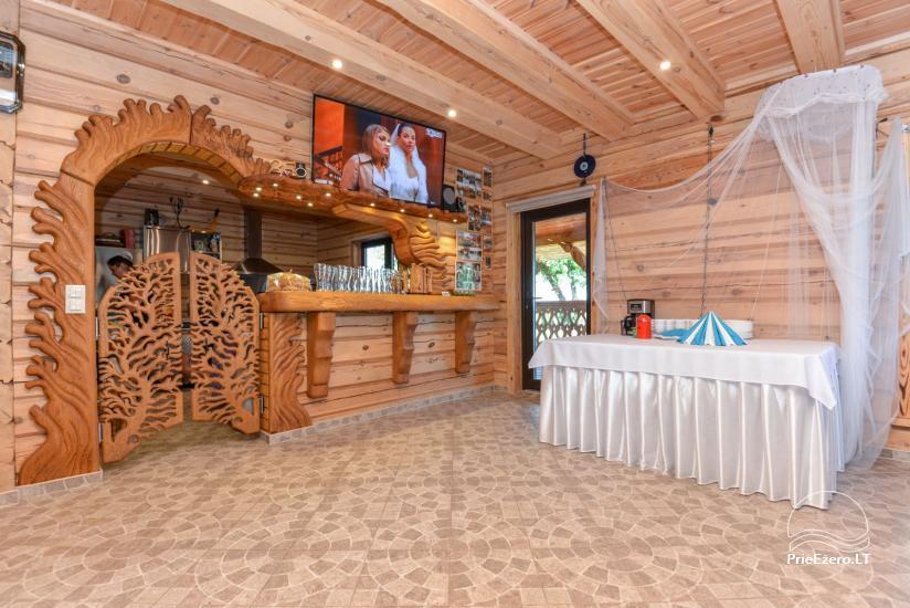 Gehöft aus Holz auf dem Land zu vermieten Rąstinukas - 9