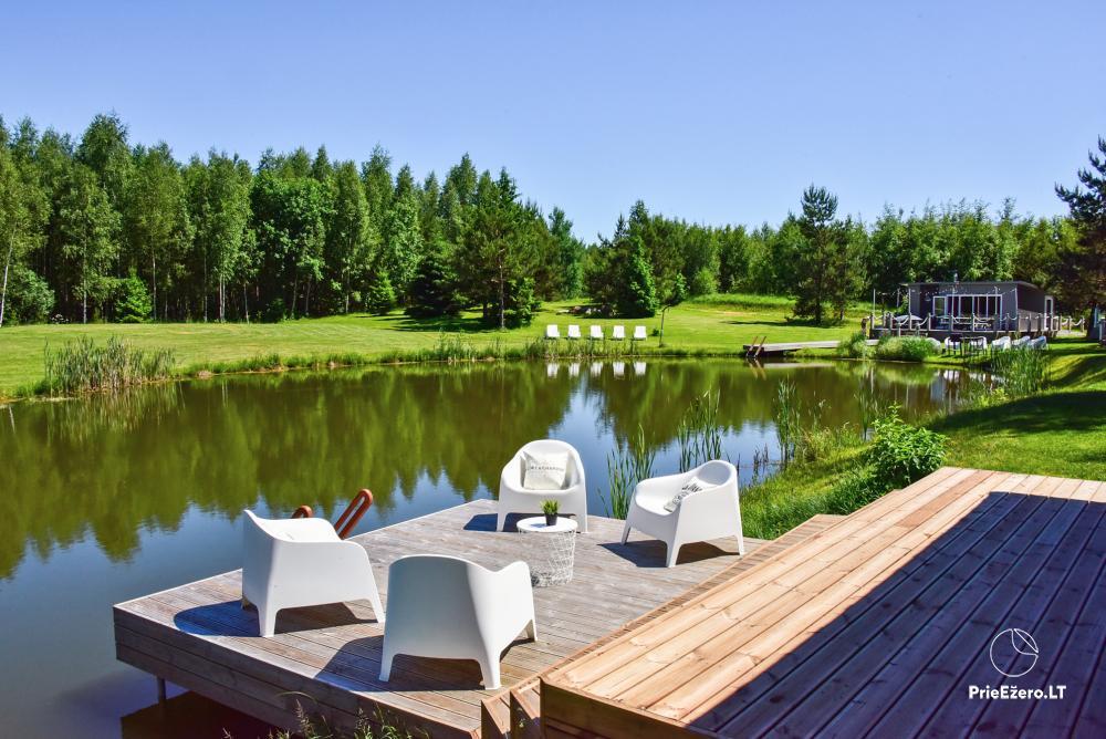 Mileikiai homestead: sauna, hot tub, bed, entertainment - 2