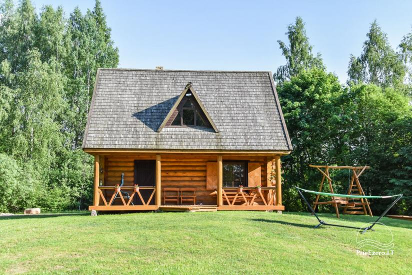 Log house - villa and sauna near Lake Auslo in Zarasai district - homestead AUSLA - 5