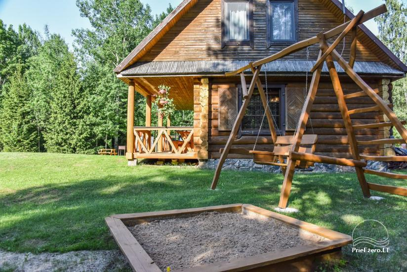 Бревенчатый дом и баня у озера Аускло в Зарасайском районе - усадьба AUSLA - 9