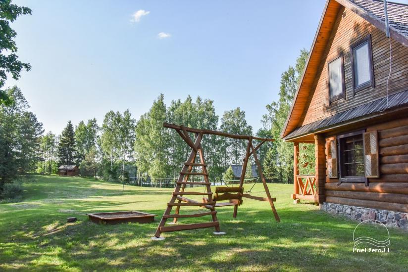 Бревенчатый дом и баня у озера Аускло в Зарасайском районе - усадьба AUSLA - 8