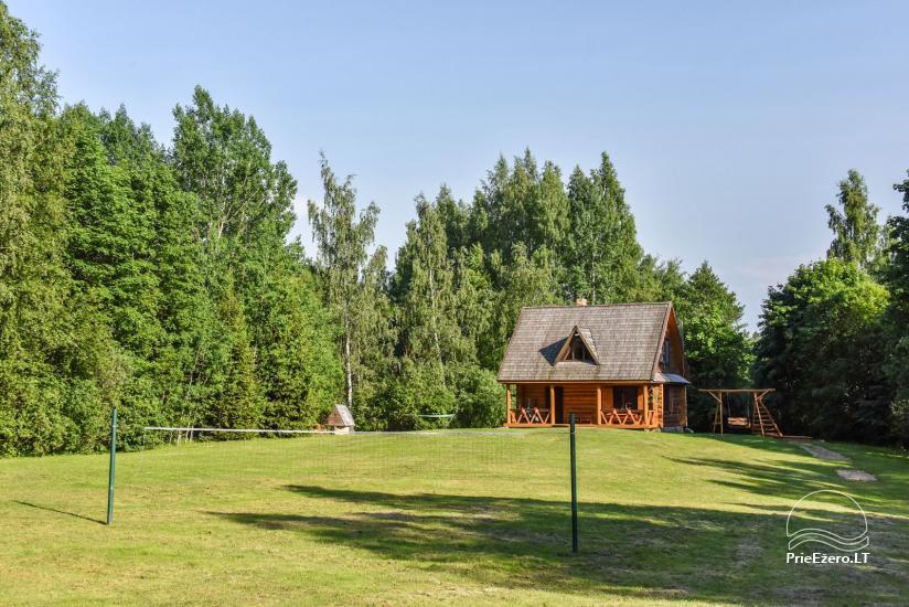 Бревенчатый дом и баня у озера Аускло в Зарасайском районе - усадьба AUSLA - 7