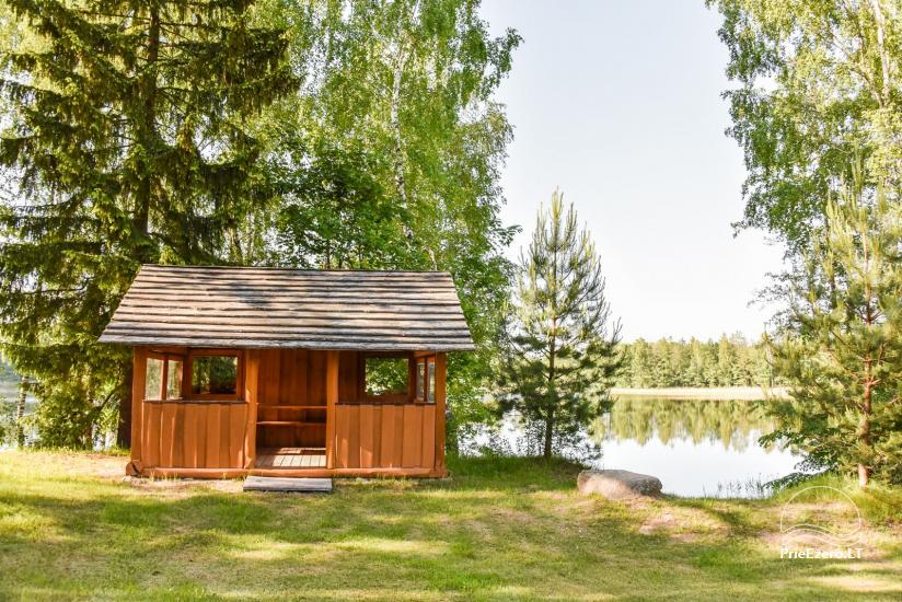 Log house - villa and sauna near Lake Auslo in Zarasai district - homestead AUSLA - 16