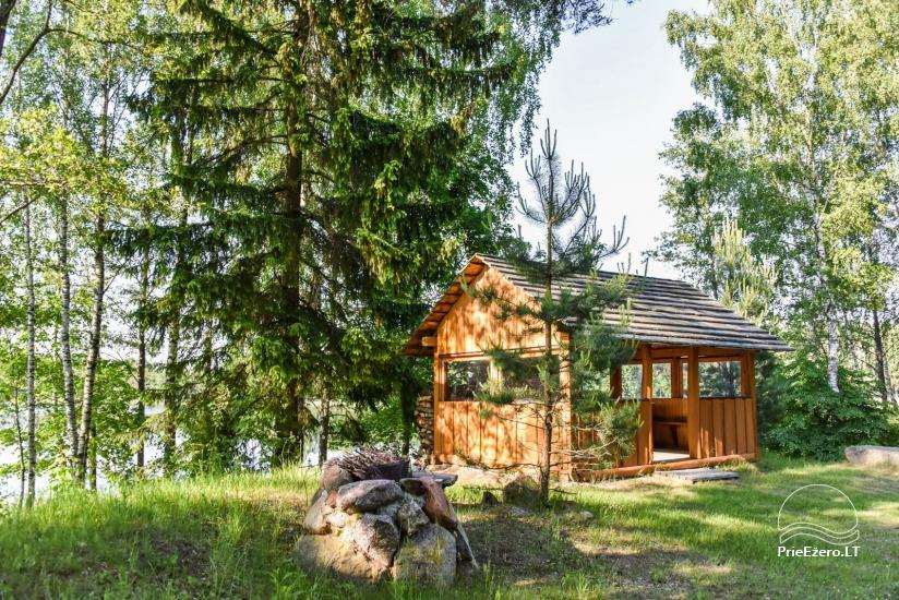 Log house - villa and sauna near Lake Auslo in Zarasai district - homestead AUSLA - 17