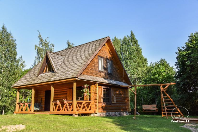 Бревенчатый дом и баня у озера Аускло в Зарасайском районе - усадьба AUSLA - 4