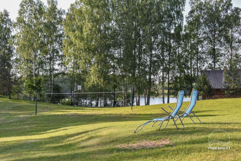 Log house - villa and sauna near Lake Auslo in Zarasai district - homestead AUSLA - 10