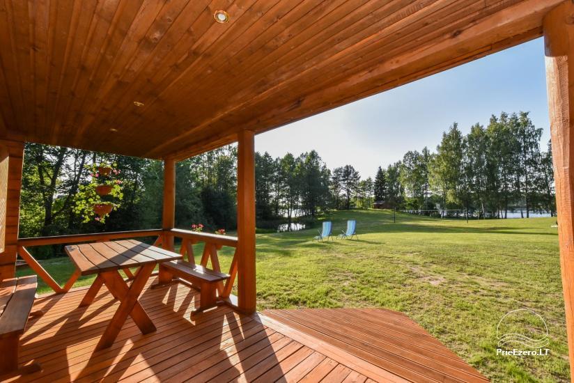 Log house - villa and sauna near Lake Auslo in Zarasai district - homestead AUSLA - 23
